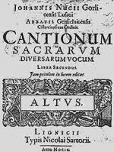Cantionum sacrarum diversarum vocum, liber secundus [...].