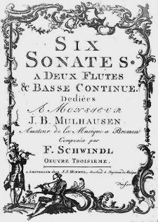 Six sonates à deux flûtes & basse continue [...] Oeuvre troisième.