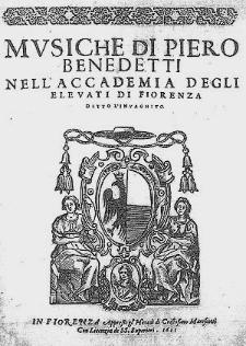 Musiche di Pietro Benedetti [...]