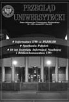 Przegląd Uniwersytecki (Wrocław) R.13 Nr 1 (130) styczeń 2007