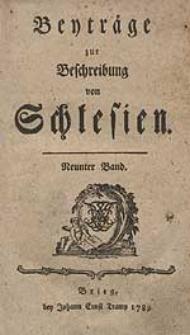 Beyträge zur Beschreibung von Schlesien Bd.9 1789