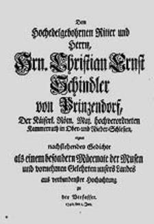 Lobgedichte auf Martin Opitz von Boberfeld / verfertiget von D. Kaspar Gottlieb Lindnern [...].