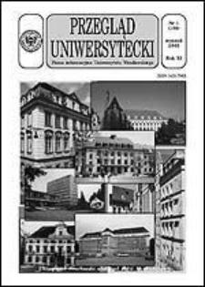 Przegląd Uniwersytecki (Wrocław) R.11 Nr 1 (106) styczeń 2005