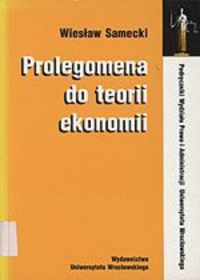 Prolegomena do teorii ekonomii