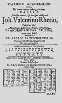 De gloria oratio pro gloriola consequenda favoreque emerendo in Gymnasio Gedanensi [...] publice recitata [...].