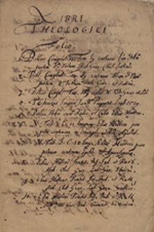 [Katalog rękopiśmienny Biblioteki Gimnazjum Brzeskiego sporządzony przez rektora Johannesa Lucasa w r. 1664].