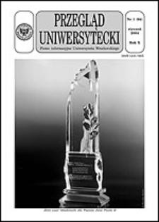 Przegląd Uniwersytecki (Wrocław) R.10 Nr 1 (94) styczeń 2004