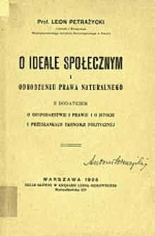 O ideale społecznym i odrodzeniu prawa naturalnego