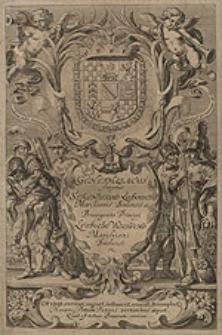 Genethliacus scriptus Serenissimi Ludovici Marchionis Badensis etc. Primogenito Principi Leopoldo Wilhelmo [...].