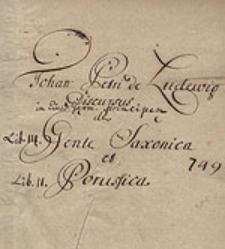 Discursus de Gente Saxonica et Prussica