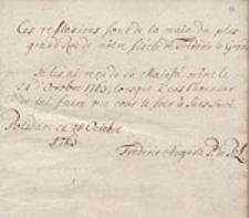 Reflexions sur les talens militaires et sur le Caractere de Charles XII. Roi de Suede par Frederic II. Roi de Prusse