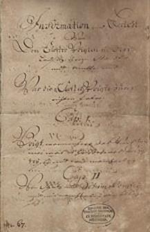 Informations-Bericht von den Klostervoigten in der Oberlausitz, ihrem Stande und Amte, und was die Klostervoigte zu verrichten haben