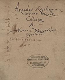 Annales Rathenoviensis curiae