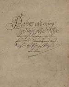 Bauw-Ordnung der Stadt alten Stettin
