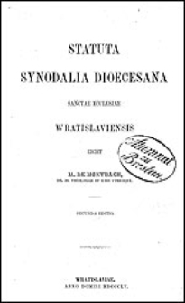 Statuta synodalia dioecesana sanctae ecclesiae Wratislaviensis