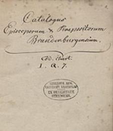Catalogus episcoporum et praepositorum Brandenburgensium