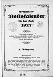 Graffschafter Volkskalender für das Jahr 1927, Jg.4