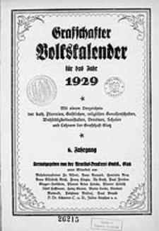 Graffschafter Volkskalender für das Jahr 1929, Jg.6