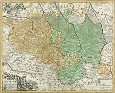 Lusatiae Superioris Tabula Chorographica [...]