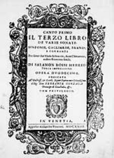 Il terzo libro de varie sonate [...] Opera duodecima [...]