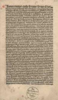 Bulla indulgentiarum pro subsidiis contra Turcas praestitis indultarum. Romae, 16 XII 1488.