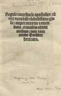 Regulae cancellariae apostolicae.