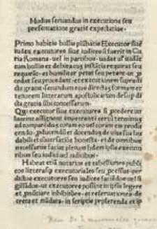 Modus servandus in executione seu prosecutione gratiae expectativae.
