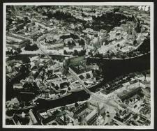[Wrocław, widok z lotu ptaka na Stare Miasto i wyspy]