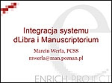 Integracja systemu dLibra i Manuscriptorium