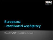 Europeana - możliwości współpracy