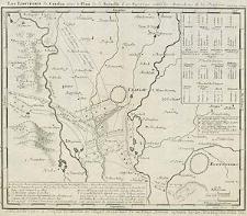 Les environs de Czaslau avec le Plan de la Bataille d. 17 May 1742 entre les Autrichiens et les Prussiens