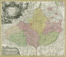 Moravia marchionatus in sex circulos divisus juxta recentissima dimensionem et accuratissimas observationes aeri incissus et venum expositus a Matth. Seutter [...]