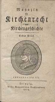 Magazin für Kirchenrecht und Kirchengeschichte.