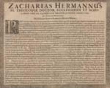Zacharias Hermannus SS. Theologiae Doctor, Ecclesiarum Et Scholarum [...] Pio Lectori [...] Iuventuti in Salvatore Salutem.