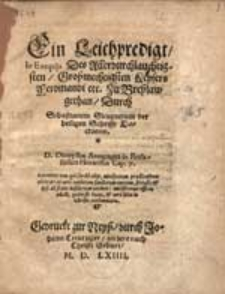 Ein Leichpredigt In Exequiis [...] Keysers Ferdinandi...