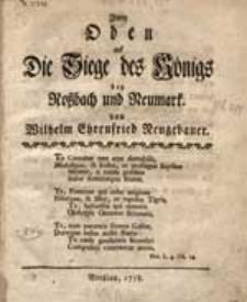 Zwey Oden auf die Siege des Königs bey Roßbach und Neumarkt.
