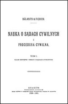 Nauki wstępne i rzecz o sądach cywilnych