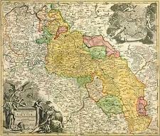 Superioris et Inferioris Ducatus Silesiae in suos XVII Minores Principatus et dominia divisi nova tabula in lucem edita a Joh. Baptista Homanno