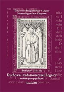 Duchowni średniowiecznej Legnicy. Studium prozopograficzne nad klerem diecezjalnym