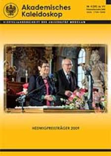 Akademisches Kaleidoskop Jg.7 Nr 4 (28) Oktober-Dezember 2009