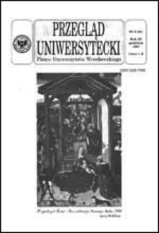 Przegląd Uniwersytecki (Wrocław) R.3 Nr 9 (23) grudzień 1997
