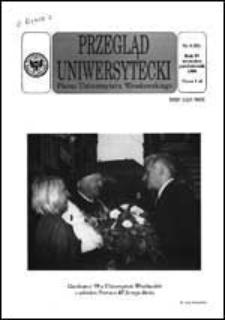 Przegląd Uniwersytecki (Wrocław) R.4 Nr 8 (31) wrzesień, październik 1998