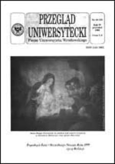 Przegląd Uniwersytecki (Wrocław) R.4 Nr 10 (33) grudzień 1998
