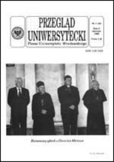 Przegląd Uniwersytecki (Wrocław) R.5 Nr 1 (34) styczeń 1999