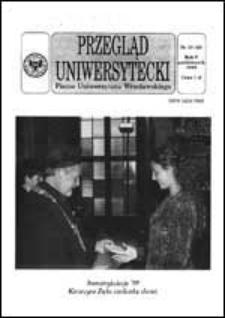 Przegląd Uniwersytecki (Wrocław) R.5 Nr 10 (43) październik 1999