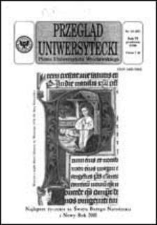 Przegląd Uniwersytecki (Wrocław) R.6 Nr 12 (57) grudzień 2000