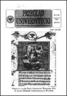 Przegląd Uniwersytecki (Wrocław) R.7 Nr 4 (61) kwiecień 2001