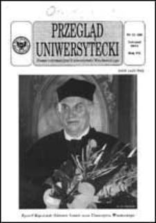 Przegląd Uniwersytecki (Wrocław) R.7 Nr 11 (68) listopad 2001