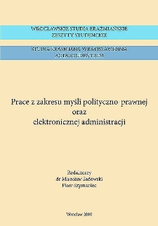 Państwo i prawo w filozofii dziejów Giambattisty Vico