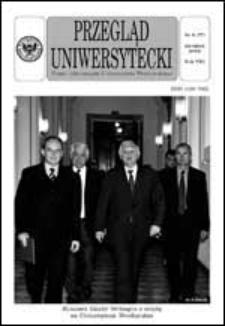 Przegląd Uniwersytecki (Wrocław) R.8 Nr 8 (77) sierpień 2002
